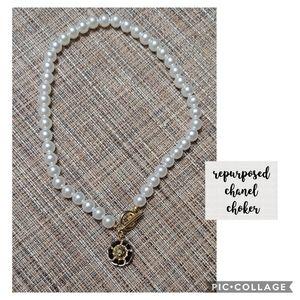 Repurposed Chanel Button - Necklace
